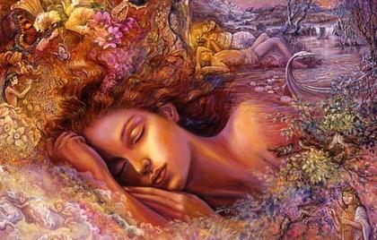Изображение спящей девушки