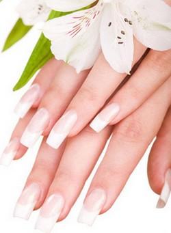 Женские руки с красивым маникюром