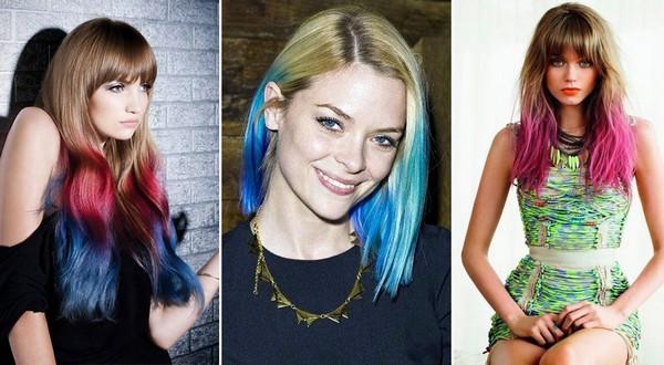 Фотографии девушек с цветными прическами