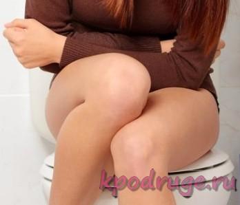 Боль у девушки при посещении туалета