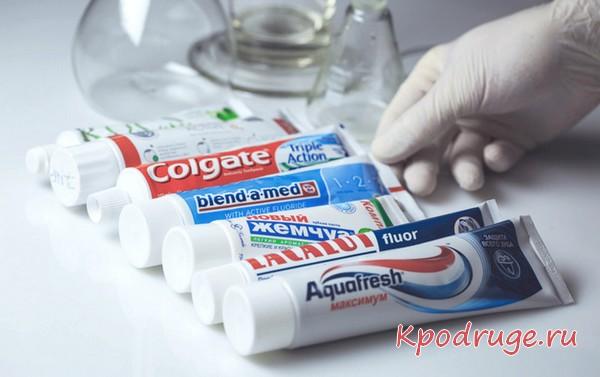Разнообразие пасты для зубов