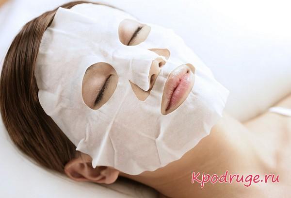 Самодельная маска для лица из ткани